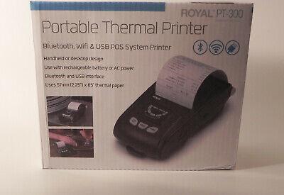 POS Portable System Handheld Sales Receipt Printer Royal PT 300 Bluetooth  USB