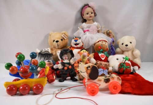 Assorted lot of dolls and toys