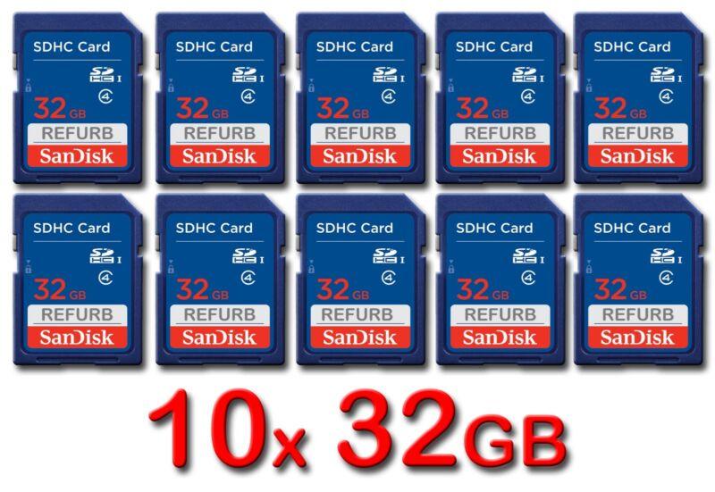 LOT 10x SanDisk SD 32GB Class 4 SDHC Card SDSDB-032G-B35 memory card 32 GB 10 x