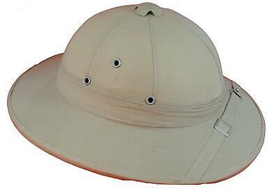 Classic Safari Hat / Pith Helmet Solid replica Colonial Headgear choose -