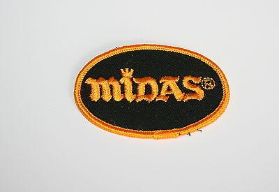 Vintage Midas Muffler Repair Shop Automotive Car Cloth Patch New NOS 1980s