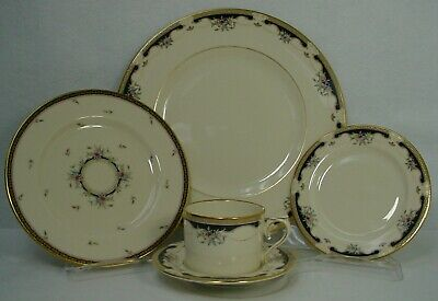 LENOX china HARTWELL HOUSE pattern 5-piece Place Setting Flat Cup - Outlet Stamp Matte 5 Piece Place Setting