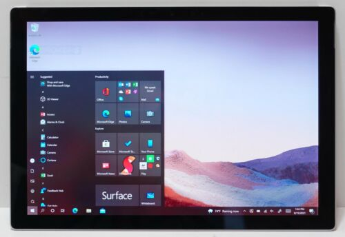 "Microsoft Surface Pro 7 128GB Core i5-1035G4 1.1GHz 8GB Wi-Fi 12.3"" W10H READ"
