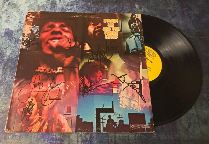 GFA Rare Band x7 * SLY AND THE FAMILY STONE * Signed Vinyl Record Album AD4 COA