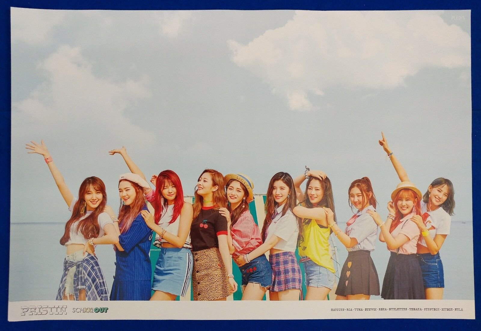 CD POSTER PRISTIN PHOTOCARD 2nd album SCHXXL OUT BOOKLET IN ver.