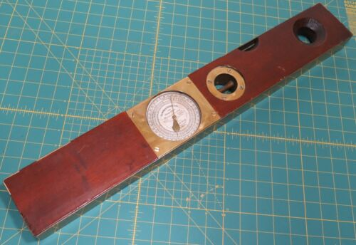 """24"""" American Combined Level & Grade Finder Inclinometer Edward Helb Railroad Pa."""