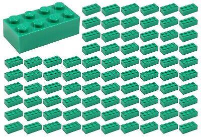 ☀️100 NEW LEGO 2x4 GREEN  Bricks (ID 3001) BULK Parts -