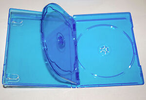 (1) Empty Blu-ray Case 3-Disc TRIPLE w/ Tray & Logo Replacement Case NEW!