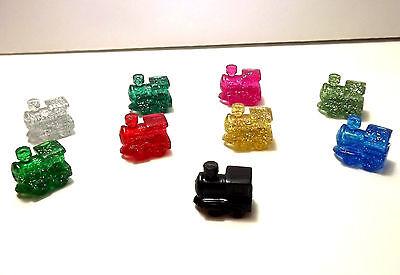 Mexican Train Domino Game Markers  8 Glitter Pieces Per Bag  Bonus Black Train