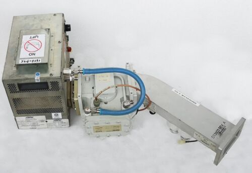 5391 Astex Ag9131a Microwave Magnetron W/ Waveguide D13604 & Isolator Mw6 D13449