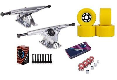 """Cal 7 Longboard Flywheel 10.75"""" Axle Truck Bearing 90mm Skateboard Wheels"""