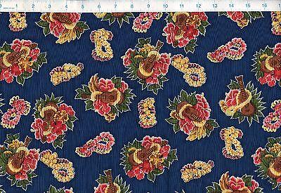 Fabric Leis (TROPICAL UKUELE Hibiscus Hawaiian Leis Trans-Pacific Fabric 100% Cotton)