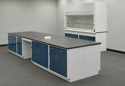 16 X 4 Laboratory Island Cabinet Group W Bench Area Tops E1-799