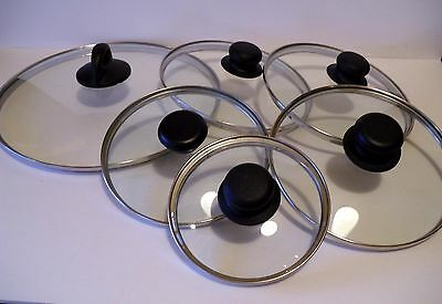 Replacement Glass & Stainless Steel Rim Lids 4 5 6 7 8 9 10 12 (Steel Rimmed Glasses)