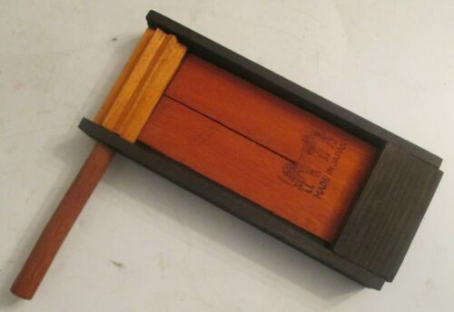 """Halloween Noise Maker all Wood 1930s Made in Japan 7"""" Rattle"""
