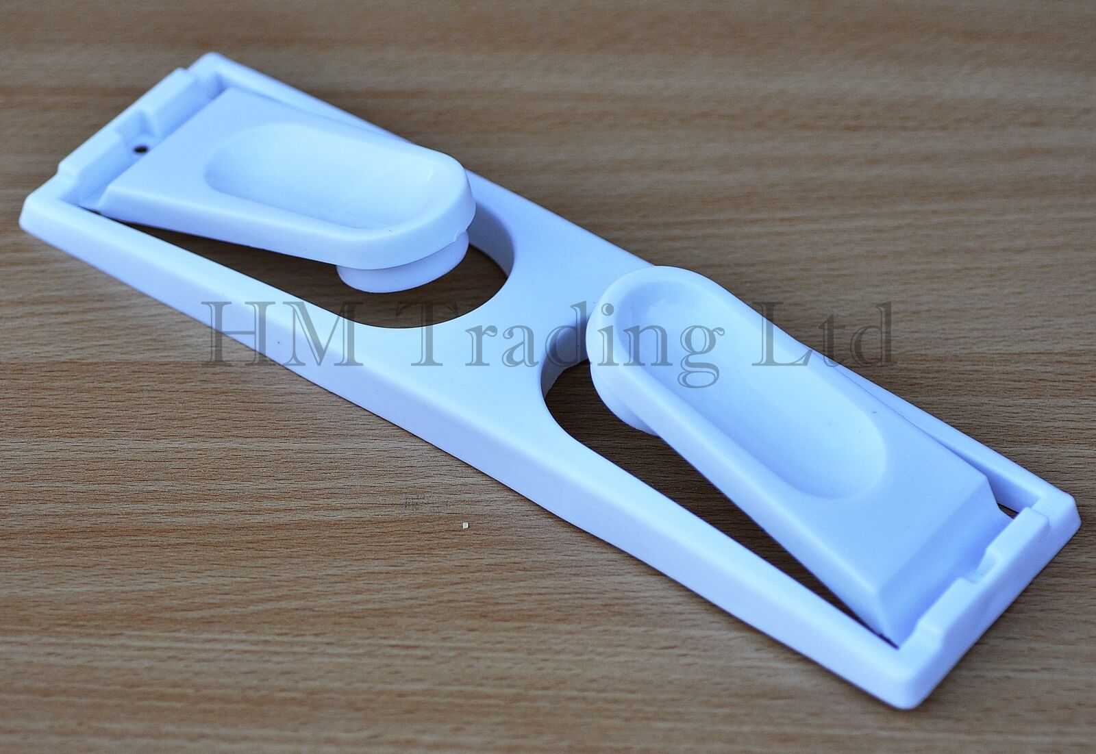 White Plastic Kitchen Paper Towel Roll Holder Rail