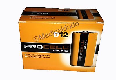 NEW DURACELL PROCELL D ALKALINE BATTERIES QTY 12 (1 BOX) EXP 5+ YRS