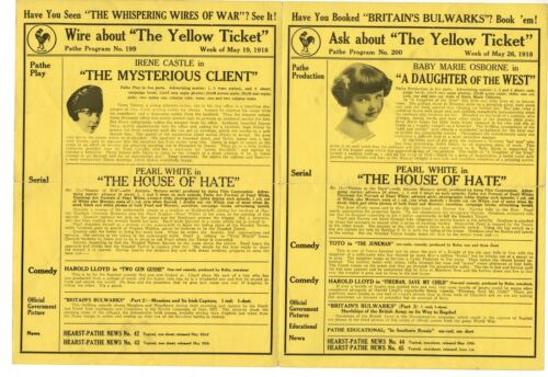 *PATHE EXCHANGE (1918) Mysterious Client, House of Hate, Harold Lloyd, Toto MORE