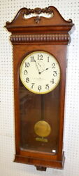 Antique American Clock Company Bow Tie Regulator Wall Clock: In a 5... Lot 194