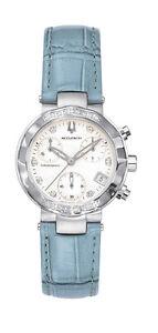 Bulova-Accutron-26R11-Chamonix-25-Diamonds-Chronograph-Blue-Leather-Band-Watch