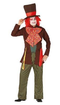 Adulto Hombres Traje Sombrerero Loco para Halloween Carnaval Fiesta de Disfraces (Trajes De Halloween Para Adultos)