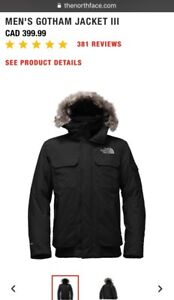 Northface Gotham Men's Down Filled Jacket BRAND NEW CONDITION