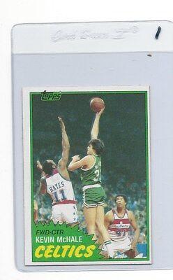 Hof Basketball (1981 TOPPS BASKETBALL #75 EAST KEVIN MCHALE ROOKIE CARD HOF PACK)