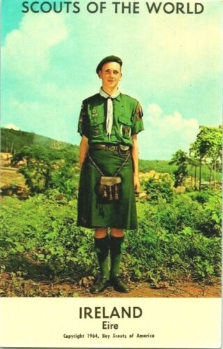 SCOUTS OF THE WORLD IRELAND EIRE BOY SCOUTS OF USA POSTCARD