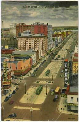 CANAL ST,NEW ORLEANS,TERRAZZO STREETS,PINK BORDERS,MOST BEAUTIFUL IN AMERICA (Canal St In New Orleans)