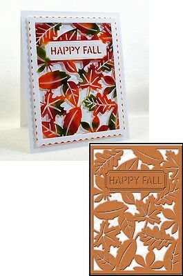 Impression Obsession Fall Leaf Background Die Die483 Yy