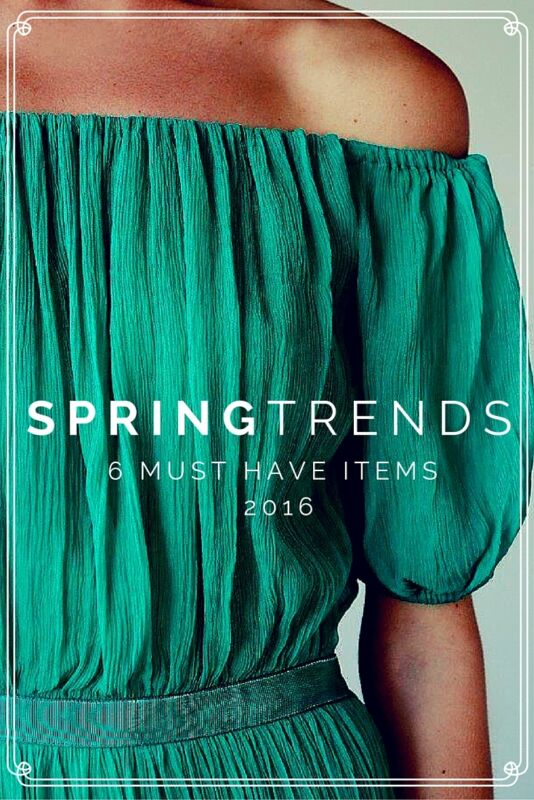 Top 6 Spring Fashion Trends