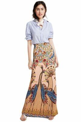 Anthropologie Farm Rio Peacock Floral Stretch Slim Knit Long Maxi -