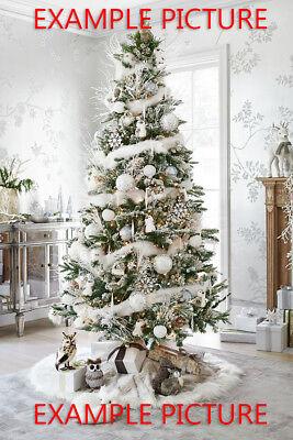CHRISTMAS SPECIAL: White Marabou Boa w/ Iris Lurex to enhance the Christmas Tree (White Boa Feathers)