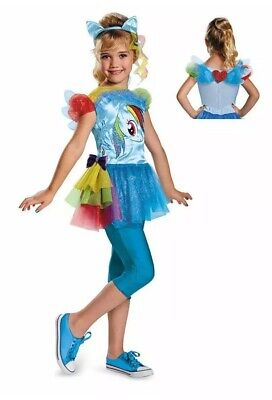 Girls My Little Pony Rainbow Dash Halloween Costume WINGS TUTU Small S 4-6 NIP