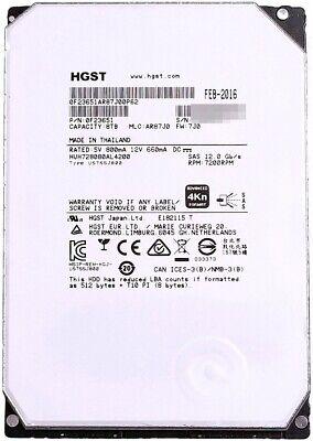 HGST Ultrastar He8 8TB 7.2K 12Gb SAS 3.5