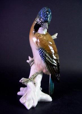 grosser Vogel auf Ast   -   Ens Volkstedt Thüringen -  31cm
