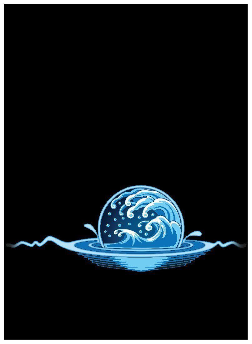 100ct Max Pro MTG Size Image Sleeves ELEMENTAL MEDALLION ICONIC BLUE WATER