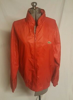 The Izod Club Lacoste VTG Nylon Bomber Jacket Men's Size Extra Large XL Red