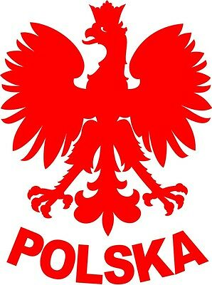 Aufkleber Polnischer Adler, Polska, Folienschnitt