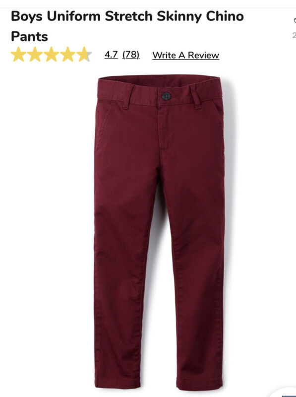 boys school uniform pants Slim Fit Redwood Color Size 14S, Brand New With Tag