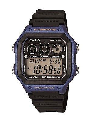 Casio Men's Referee Timer Watch, Blue Case