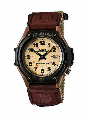 Casio Forester Men's Brown Nylon Strap 41.5mm Watch FT500WC-5B