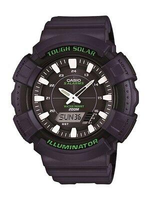 Casio Men's Tough Solar 5 Alarms Black Dial Blue Resin 50mm Watch ADS800WH-2AV