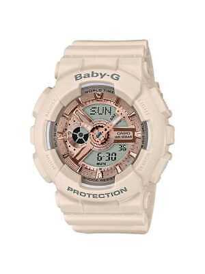 Casio BABY-G SHOCK BA110CP-4A Pink Beige Casual Analog Digital Ladies Watch