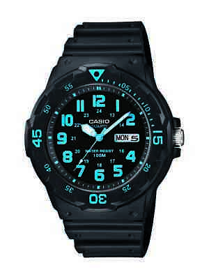 Casio Men's Black Resin Dive Black Resin Band 45mm Watch MRW200H-2BV