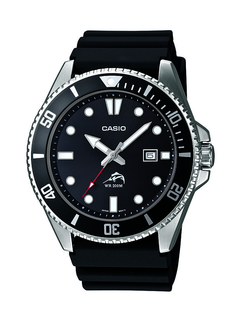 Mens Watches - Casio Men's MDV106-1A Rotating Bezel Black Resin Band Diving Watch