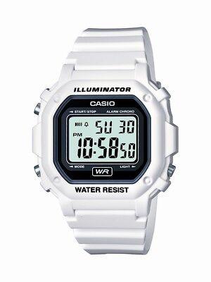 Casio Unisex Quartz Alarm Chronograph White Resin 42mm Watch F108WHC-7A
