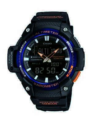 Casio Men's Twin Sensor Analog-Digital Black Resin Band 51Mm Watch Sgw450h-2B