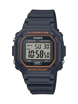 Casio Men's Illuminator Digital Stopwatch Grey Resin Watch F108WH-8A2