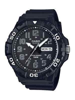 Casio Men's Quartz 'Dive' Look Rotating Bezel Black Resin 50mm Watch MRW210H-1AV Casio Sports Dive Watch